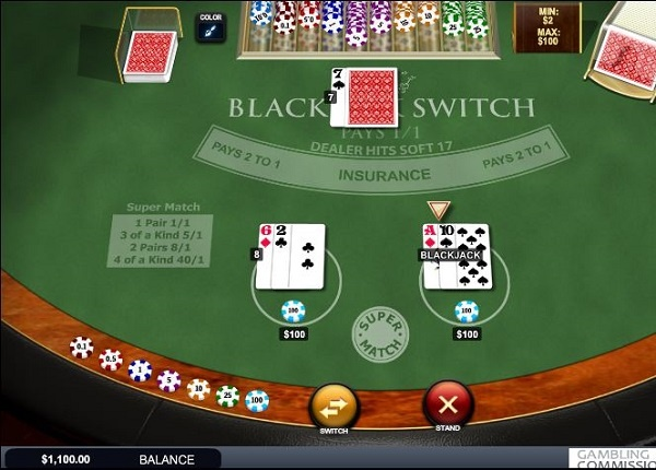 get better hands with blackjack switch