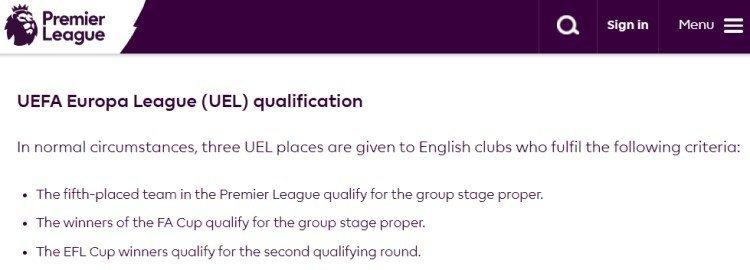 Europa League Qualification