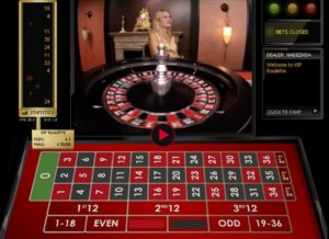 VIP high roller roulette with live dealers