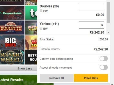 What is yankee in betting how to bet on betfair